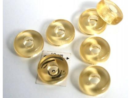 Inel sticla presata Cechia 11 x 4.50 mm culoare lt. topaz (4 buc). INE-03
