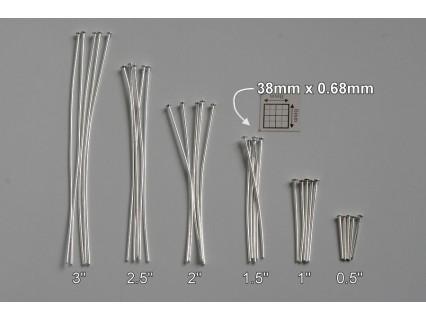 Ace cu cap 38x0.68mm, alama placata cu argint, finisare foarte buna (48x)