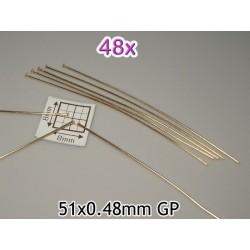 Ace cu cap 51x0.48mm GP, alama placata cu aur (48 bucati)