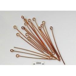 Ace cu bucla, 38x0.68mm, alama placata cu aur (25 bucati)