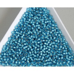 Toho R11-23BF, Silver-Lined Frosted Dark Aquamarine, 10g