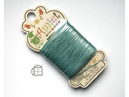 Toho Thread Amiet col07, Teal, 0.5mm x 20 metrii (1 bucata )
