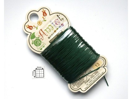 Toho Thread Amiet col13, Emerald, 0.5mm x 20 metrii (1 bucata )