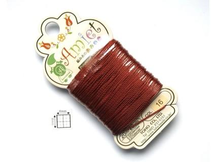 Toho Thread Amiet col16, Mahogany, 0.5mm x 20 metrii (1 bucata )