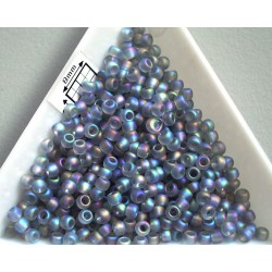 Toho R8-176AF, Trans-Rainbow-Frosted Black Diamond, 10g
