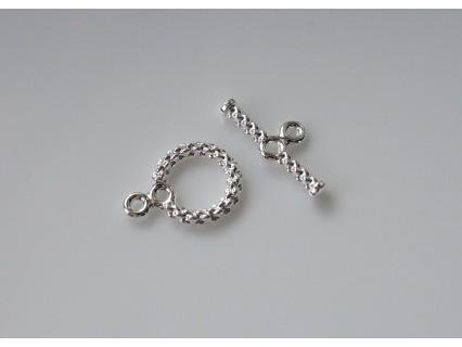 Inchizatoare toggle spirala 11mm SP - alama placata cu argint (1 set)