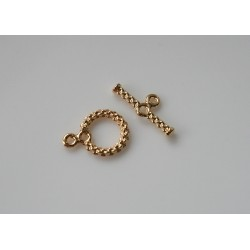 Inchizatoare toggle spirala 11mm GP - alama placata cu aur (1 set)