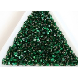Toho TG11-36, Silver-Lined Green Emerald, 10g