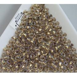Toho R8-262, Inside-Color Crystal/Gold Lined, 10g