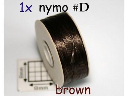 Nymo D brown   maro, bobina 58.5m ( 1 bucata )
