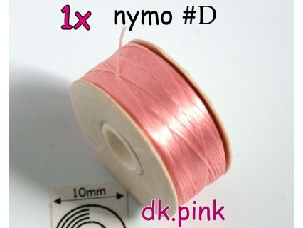 Nymo D dk pink | •roz închis, bobina 58.5m ( 1 bucata )