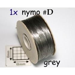 Nymo D grey | gri, bobina 58.5m ( 1 bucata )