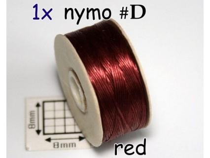 Nymo D red bordeaux | rosu bordo, bobina 58.5m ( 1 bucata )