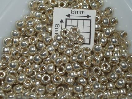 Toho R8-PF558, Permanent Finish - Galvanized Aluminum, 5g