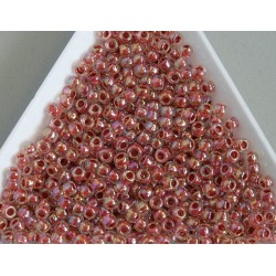 Toho R8-784, Inside-Color Rainbow Crystal/Sandstone Lined, 10g