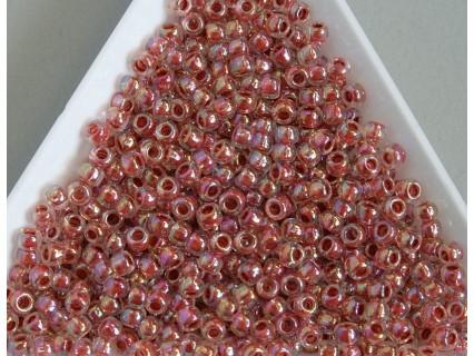 Toho R8-784, Inside-Color Rainbow Crystal/Sandstone Lined, 10g