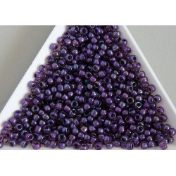Toho R8-928, Inside-Color Rainbow Rosaline/Opaque Purple Lined, 10g
