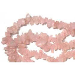 Chipsuri cuart roz 8-10mm, sirag 90cm