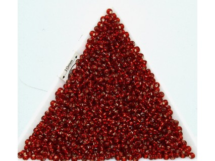 Toho R11-25C, Silver-Lined Ruby, 10g