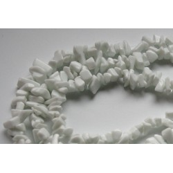 Chipsuri marmura alba, 5-8mm, sirag 90cm