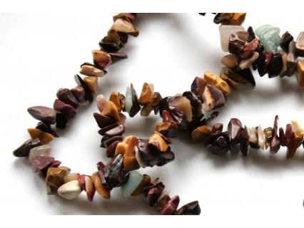 Chipsuri jasp - mooakite, 6-8mm, sirag 90cm