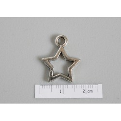 Charm stea 21x17mm, pewter ASF