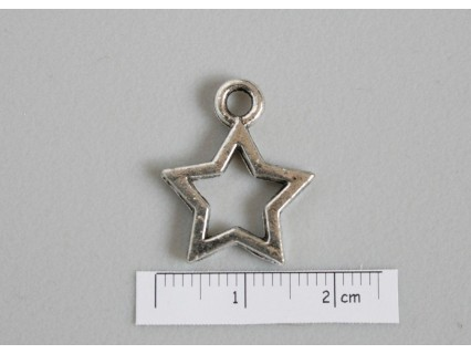 Charm stea 21x17mm, pewter ASF