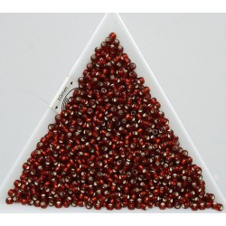 Toho R11-25CF, Silver-Lined Frosted Ruby, 10g