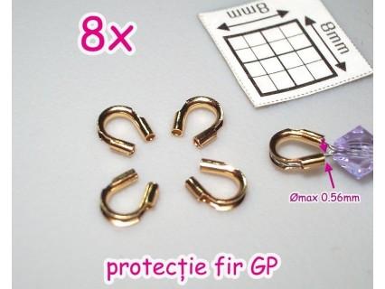 Wire Protector GLP - alama pl. cu aur, protectie fir 0.5mm ( 8 bucati )