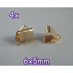 End Crimp 6x5mm - capat de panglica, GLP (4 bucati)