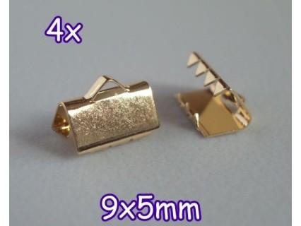End Crimp 9x5mm - capat de panglica, GLP (4 bucati)
