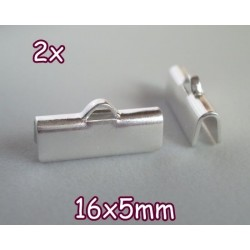 End Crimp 16x5mm - capat de panglica, SLP (2 bucati)