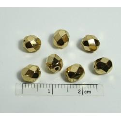 FP 6 - margele firepolish 6 mm, auriu (4 buc)