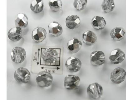 FP6-09 Cristal Partial Metalizat - margele firepolish 6mm, 10x