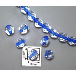 FP6-24 Cristal/Albastru - margele firepolish 6mm, 10x