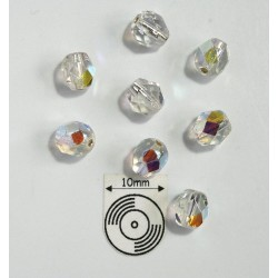 FP6-46 Silver Lined Crystal AB - margele firepolish 6mm, 10x