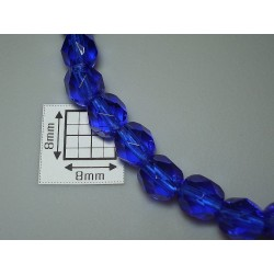 FP6-48 Cobalt - margele firepolish 6mm, 10x
