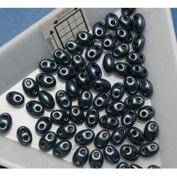 Tw06 margele PRECIOSA Twin 2.5x5mm, terra pearl blue, 5g