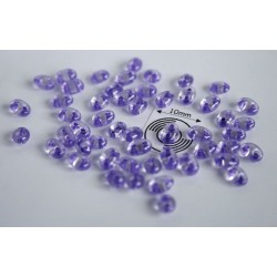 Tw08 margele PRECIOSA Twin 2.5x5mm, crystal purple lined, 5g