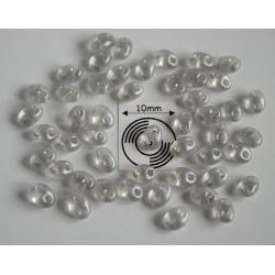 Tw14 margele PRECIOSA Twin 2.5x5mm, light grey pearl, 5g