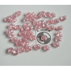 Tw16 margele PRECIOSA Twin 2.5x5mm, light rose pearl, 5g