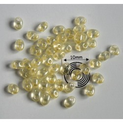 Tw18 margele PRECIOSA Twin 2.5x5mm, jonquil pearl, 5g