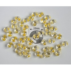 Tw19 margele PRECIOSA Twin 2.5x5mm, crystal yellow lined, 5g