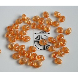 Tw24 margele PRECIOSA Twin 2.5x5mm, orange pearl, 5g