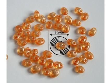 Tw24 margele PRECIOSA Twin 2.5x5mm, orange pearl, 5g
