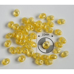 Tw25 margele PRECIOSA Twin 2.5x5mm, yellow pearl, 5g