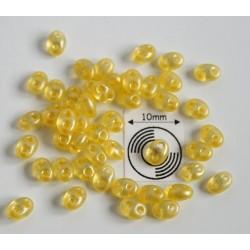 Tw25 margele PRECIOSA Twin 2.5x5mm, yellow pearl, 5g