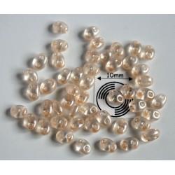 Tw31 margele PRECIOSA Twin 2.5x5mm, beige pearl, 5g