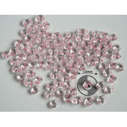 Tw33 margele PRECIOSA Twin 2.5x5mm, crystal light rose lined, 5g