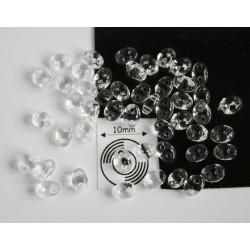 Tw34 margele PRECIOSA Twin 2.5x5mm, cristal, 5g